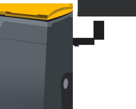 Bac collecte sélective ou PAV