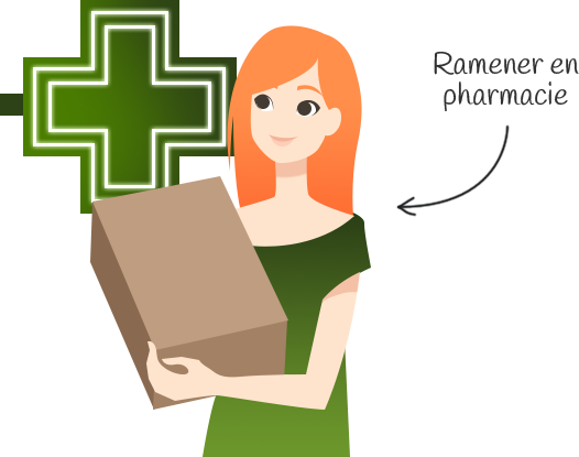 Ramener en pharmacie